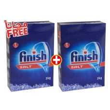 Finish Dishwashing Machine Salt 2kg 1+1FREE