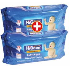 HiGeen Wet Wipes 72Pcs*2
