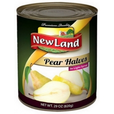 New Land Pear Halves In Light Syrup 820 G.m
