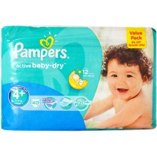 Pampers Active Baby No4+ 9-20K Large 40 Pcs 8%off