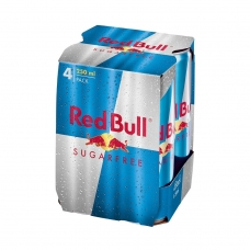 Red Bull Energy Drink - Sugar Free 4-Pack Can 250Ml