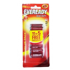 Eveready Battery AAA 15 +5
