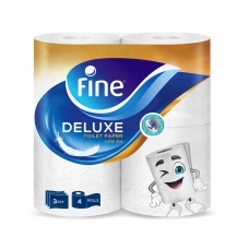 Fine Toilet Paper, Extra Strong, 150 Sheets 3 Layers, 4 Rolls