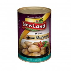 New Land Straw Mushrooms Whole 425 G.m