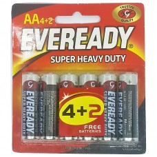 EVEREADY HVY.DUTY AA 6P(4+2FREE) N PC